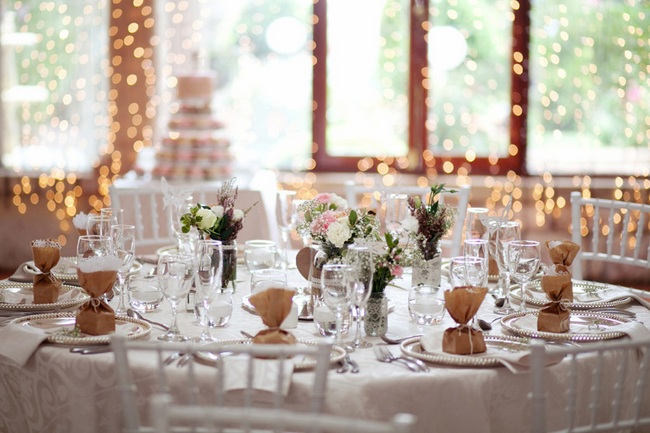 Understated wedding decor also makes a beautiful statement.