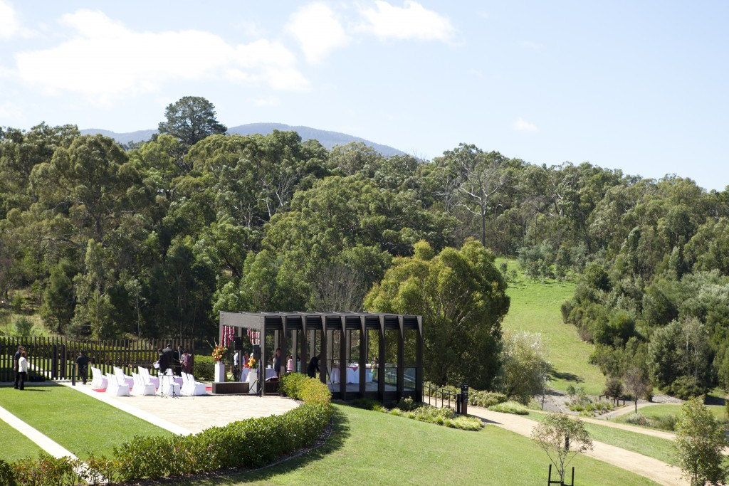 The beautiful RACV Club set in the winery region of Victoria, Australia was the perfect backdrop for my outdoor fusion wedding ceremony.