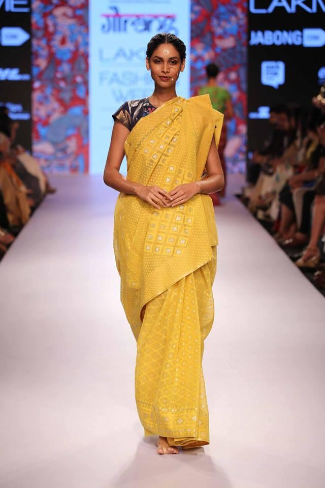 Gaurang-Shah-LFWSS15-Yellow-sari-The-Maharani-Diaries