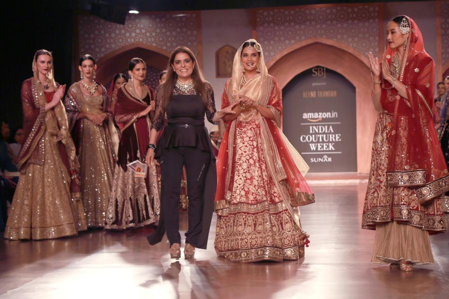 Reynu Taandon AICW15 | The Maharani Diaries(Photo: Amlan Paliwal/IANS)