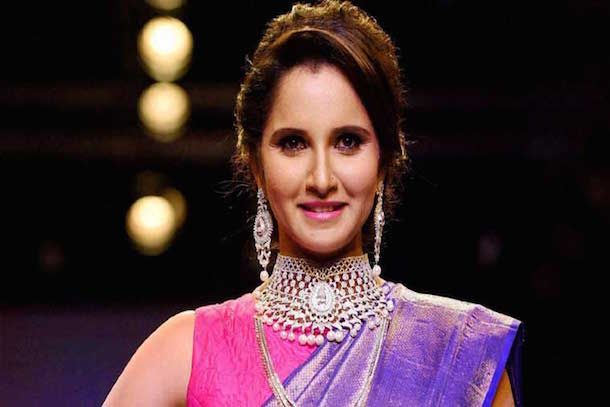 Tennis star, Sania Mirza's exquisite bridal set was cast in diamonds, gemstones as well as pearls.