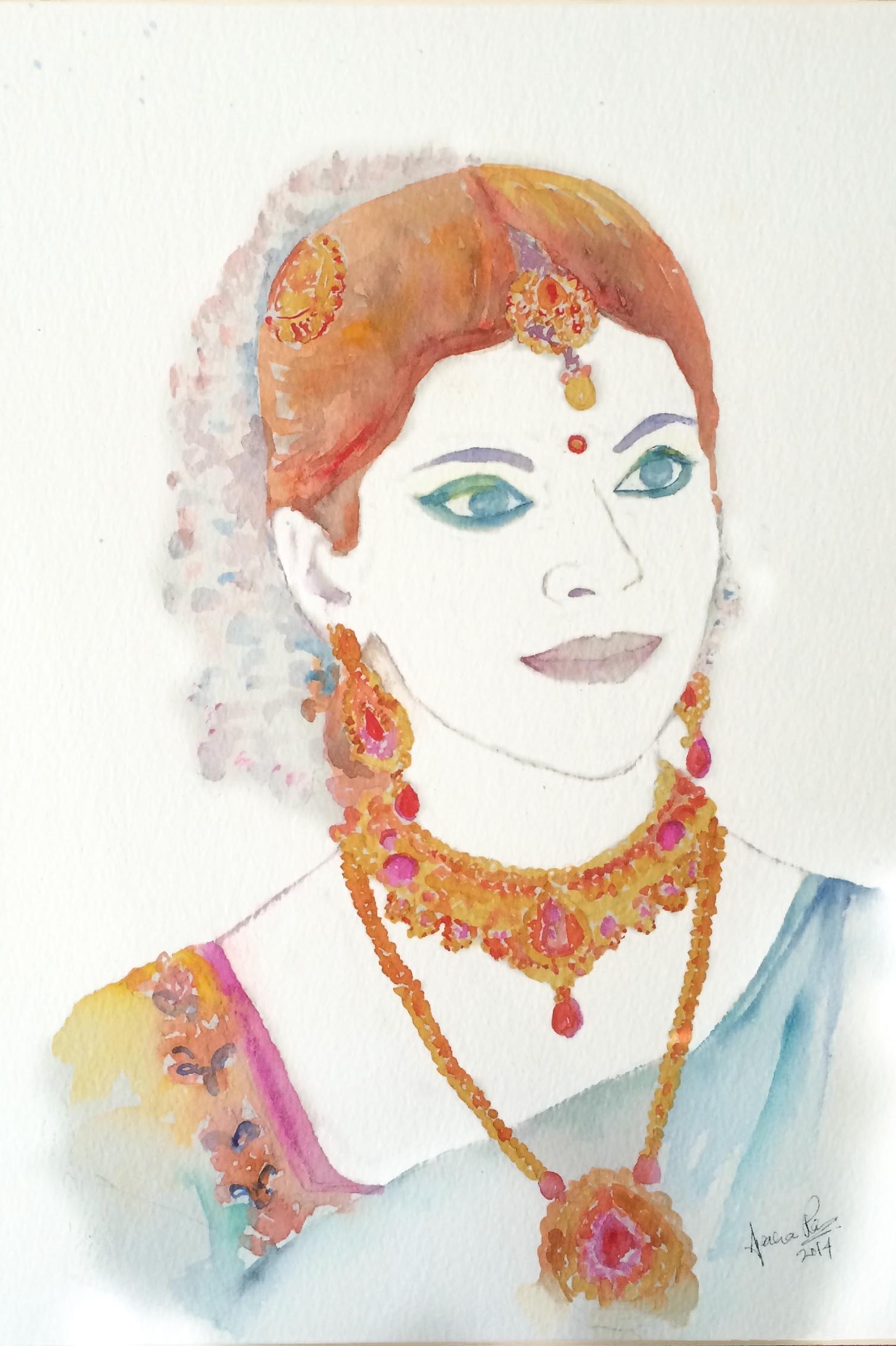 Beautiful bridal portrait of Aparna's sister in law