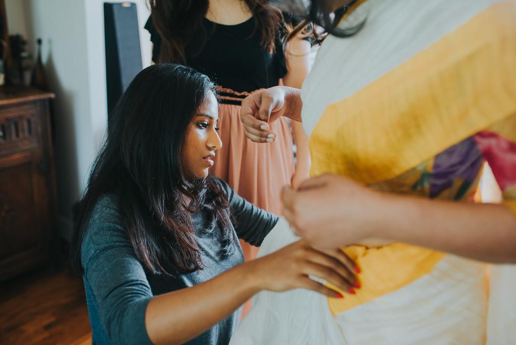 Saree draping | The Maharani Diaries