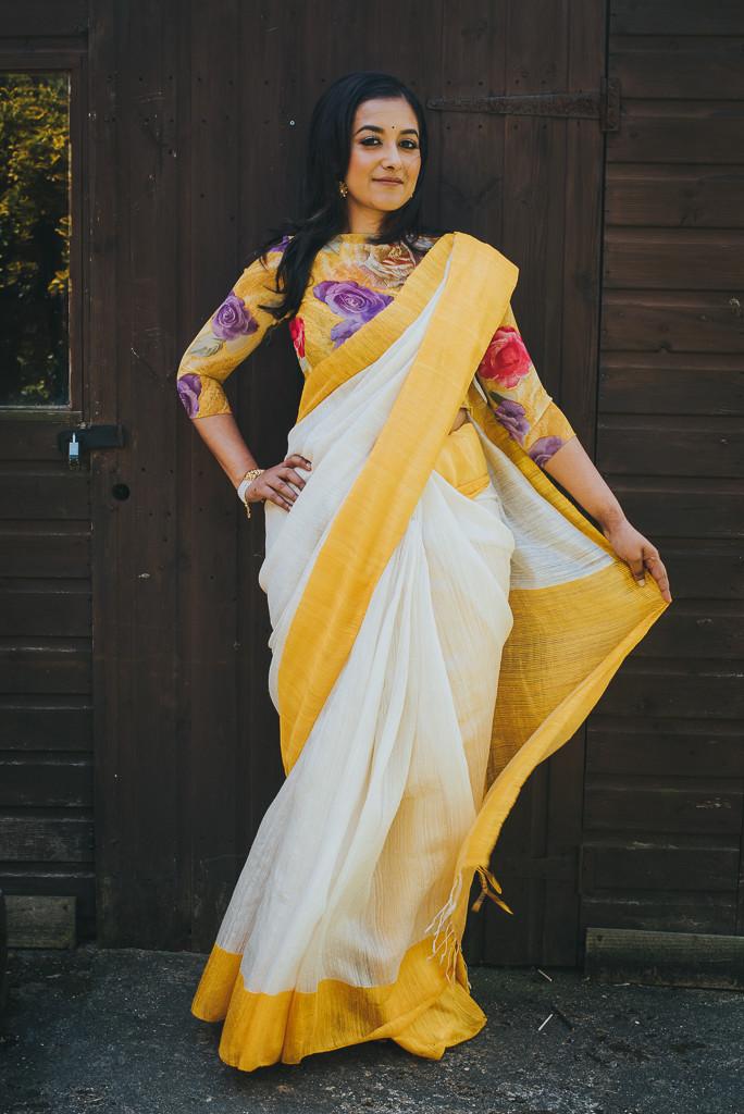 Tussar silk sari - Jyoti Chandhok | The Maharani Diaries